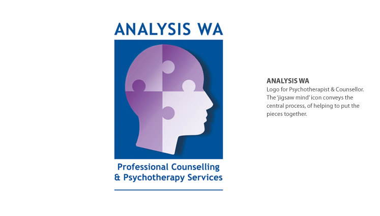 psychoanalyst therapy logo design perth